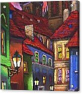 Prague Old Street 01 Acrylic Print
