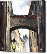 Prague Old Street 02 Acrylic Print