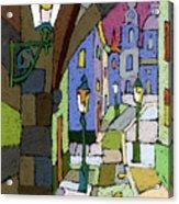 Prague Old Street Mostecka Acrylic Print by Yuriy  Shevchuk