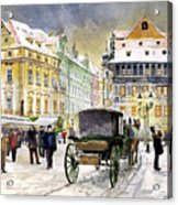 Prague Old Town Square Winter Acrylic Print