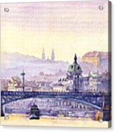 Prague Panorama Chehuv Bridge Acrylic Print