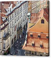 Prague Red Rooftops In The Old Town Acrylic Print