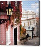 Prague Stairs Acrylic Print