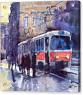Prague Tram 02 Acrylic Print
