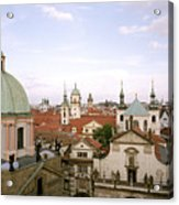 Prague Twilight Acrylic Print
