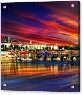 Pragues Historic Charles Bridge Acrylic Print