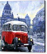 Praha Rnd Bus 1950 Skoda 706 Ro Acrylic Print