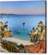 Praia Do Camilo At Sunset  Acrylic Print