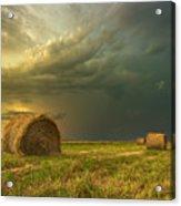 Prairie Storms Acrylic Print by Stuart Deacon