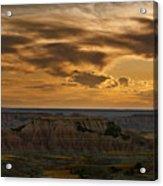 Prairie Wind Overlook Badlands South Dakota Acrylic Print