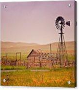 Prairie Windmill Acrylic Print