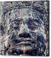 Prasat Bayon Stone Face  Acrylic Print
