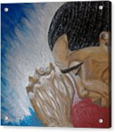 Pray For Peace Acrylic Print by Keenya  Woods