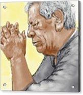 Prayer Of A Righteous Man Acrylic Print