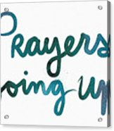 Prayers Going Up- Art By Linda Woods Acrylic Print