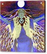 Praying Goodnight To The Moon Acrylic Print