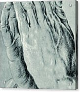 Praying Hands, Also Known As Study Of The Hands Of An Apostle  Acrylic Print