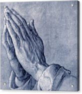Praying Hands, Art By Durer Acrylic Print by Sheila Terry