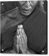 Praying Monk Acrylic Print