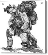 Praying Soldier Acrylic Print