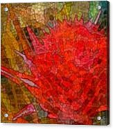 Bloom In Bits Acrylic Print
