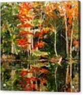 Prentiss Pond, Dorset, Vt., Autumn Acrylic Print