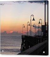 Pre-sunrise On Daytona Beach Pier   Acrylic Print