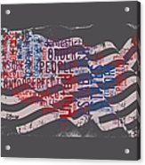 Preamble To The Constitution On Us Map Acrylic Print