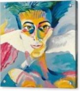 Preciada Azancot Self-portrait With A Dove Acrylic Print