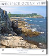 Precipice Ocean View Acrylic Print