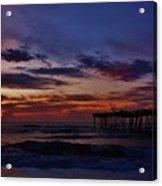Predawn Avon Pier 2 4/10 Acrylic Print