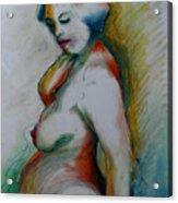 Pregnant Nude Acrylic Print