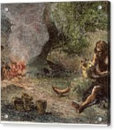 Prehistoric Man: Pottery Acrylic Print