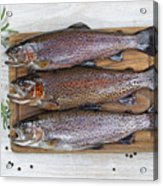 Preparing Trout For Dinner  Acrylic Print