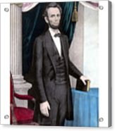 President Abraham Lincoln In Color Acrylic Print