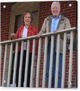 President And Mrs Carter On Plains Inn Balcony Acrylic Print