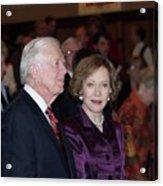 President And Mrs. Jimmy Carter Nobel Celebration Acrylic Print