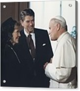 President And Nancy Reagan Meeting Acrylic Print