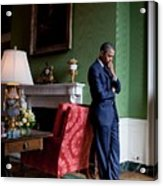 President Barack Obama Waits Acrylic Print by Everett