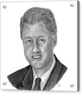 President Bill Clinton Acrylic Print