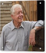 President Carter At His Boyhood Farm Acrylic Print