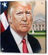 President Donald Trump Art Acrylic Print