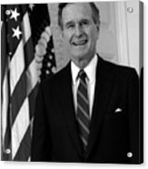 President George Bush Sr Acrylic Print by War Is Hell Store
