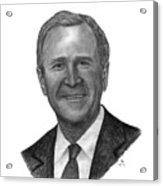 President George W Bush Acrylic Print