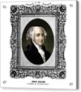 President John Adams Portrait  Acrylic Print by War Is Hell Store
