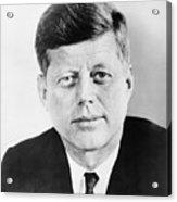 President John F. Kennedy Acrylic Print by War Is Hell Store