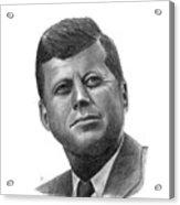 President John Kennedy Acrylic Print