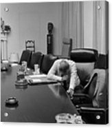 President Johnson Appears Agonized Acrylic Print