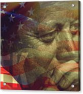 President Kennedy - Digital Art Acrylic Print