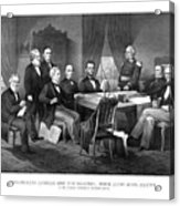 President Lincoln His Cabinet And General Scott Acrylic Print